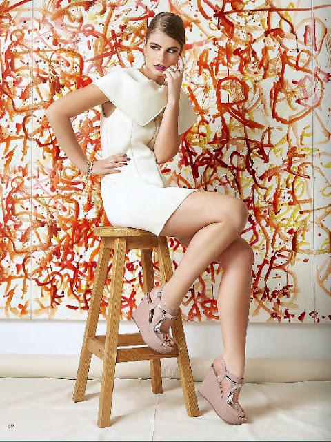 zapato de color pastel