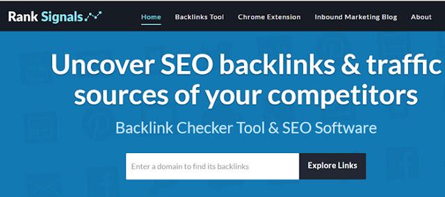 ranksignals - free online backlink checker tool