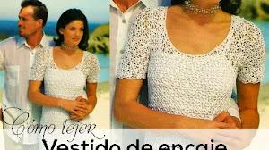 Cómo tejer un vestido de encaje a crochet | Paso a paso