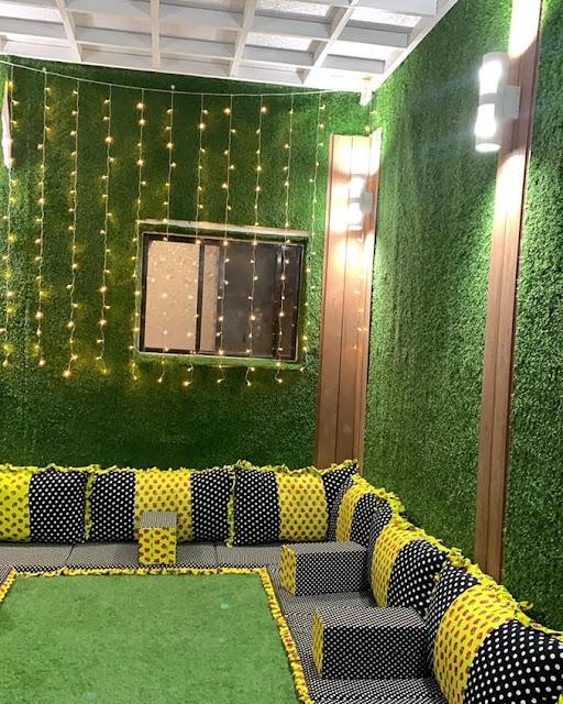 تنسيق حوش المنزل بالكيرية شركة تركيب عشب صناعي بالبكيرية تصميم جلسات حدائق بالبكيرية