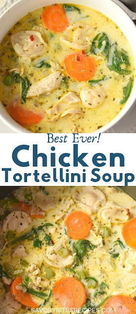 best ever delicious chicken tortellini soup
