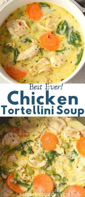best ever delicious chicken tortellini soup