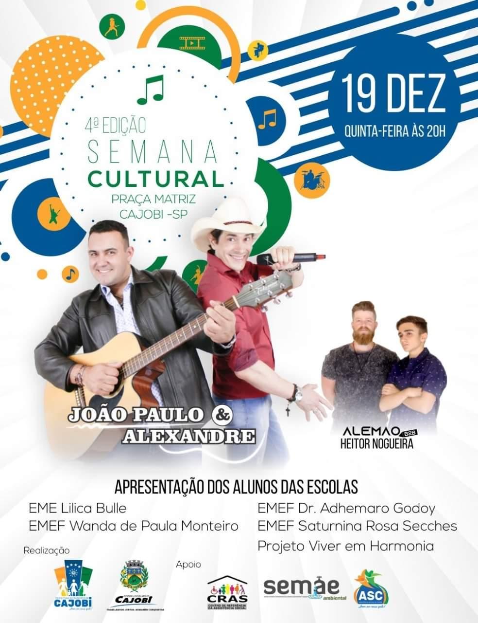Começa hoje a 4ª edição da Semana Cultural em Cajobi
