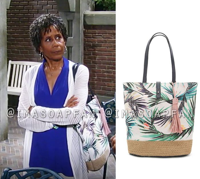 5bd857958fdab0 Stella Henry s Tropical Print Tote Bag - General Hospital
