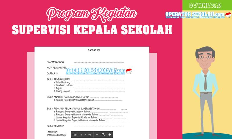 Program Kegiatan Supervisi Kepala Sekolah Terbaru
