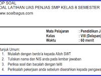Soal UAS Penjas SMP Kelas 8 Semester 1