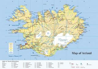 Mapa de Islandia.