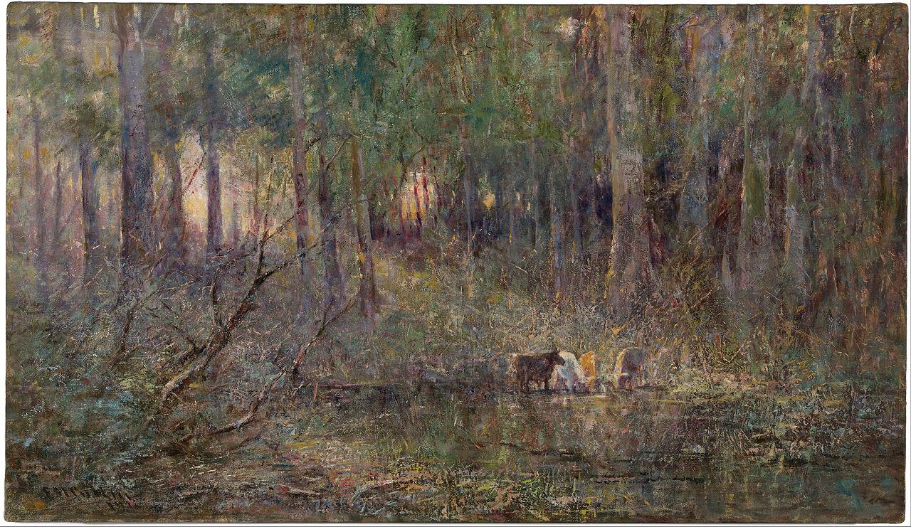 Violeta e Ouro - Frederick McCubbin e suas principais pinturas ~ australiano