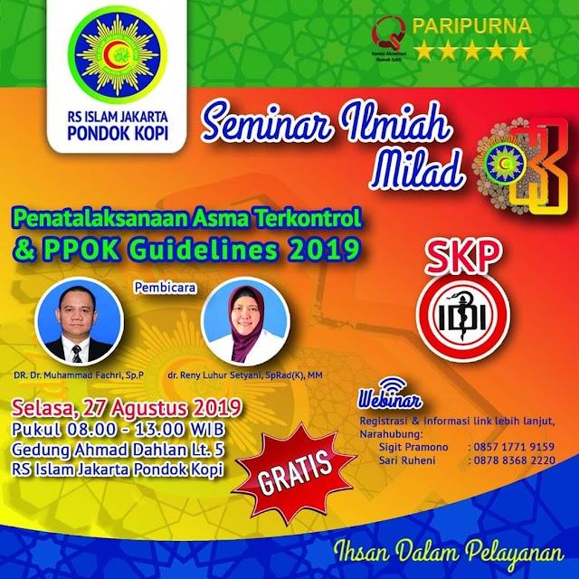 "Free SKP IDI: Seminar & Webinar ""Penatalaksanaan Asma Terkontrol & PPOK Guidelines 2019"""