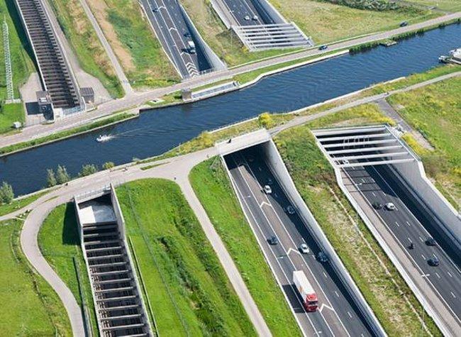 Cầu nước Ringvaart Haarlemmermeer - Hà Lan