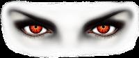 صورة لعيون شريرة حمراء تعبر عن نظرة الحسد بدون خلفية