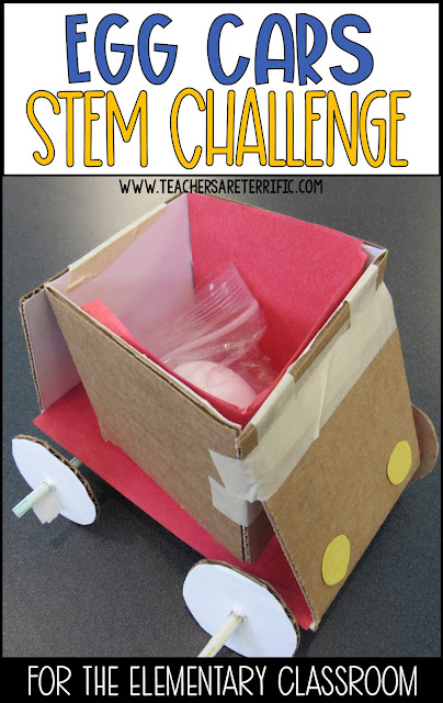 STEM Challenge Build an Egg Car for a hands-on activity for Newton's Second Law of Motion!