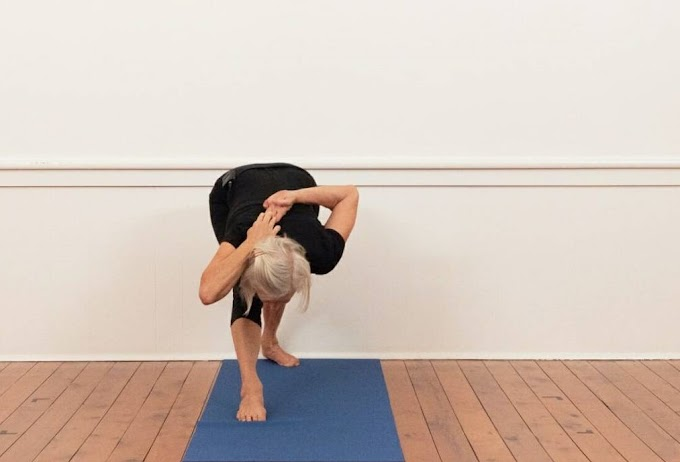 Gomukhasana Arms (Standing Cow Face Arms) From Tadasana's Posture 3