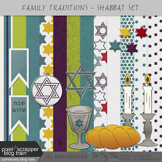 Digital Scrapbooking Shabbat Set and Glip Glop