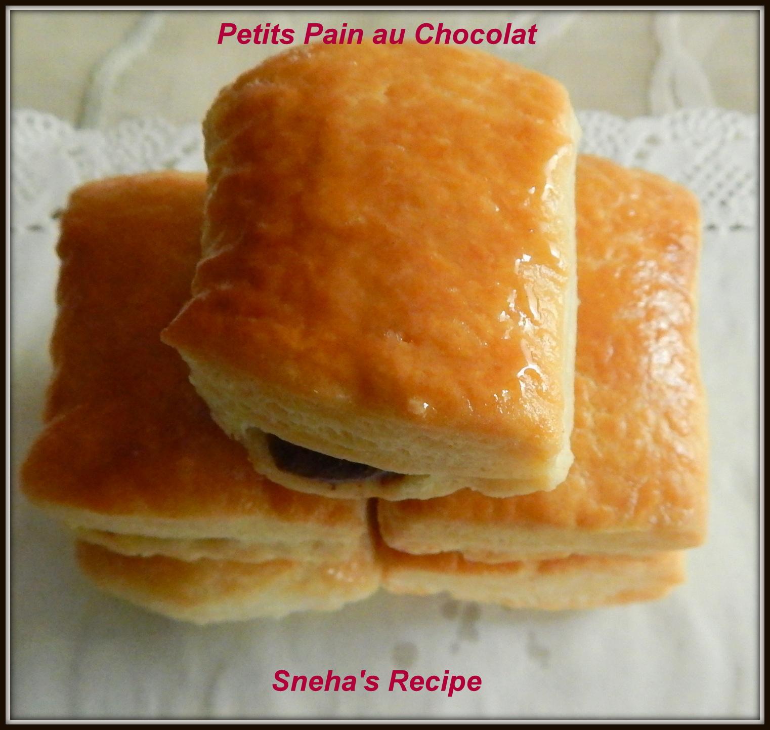 Petits Pain Au Chocolat Mini Chocolate Croissant Snehas