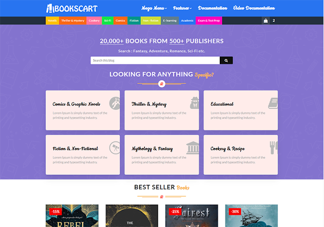 Books Cart Blogger Template