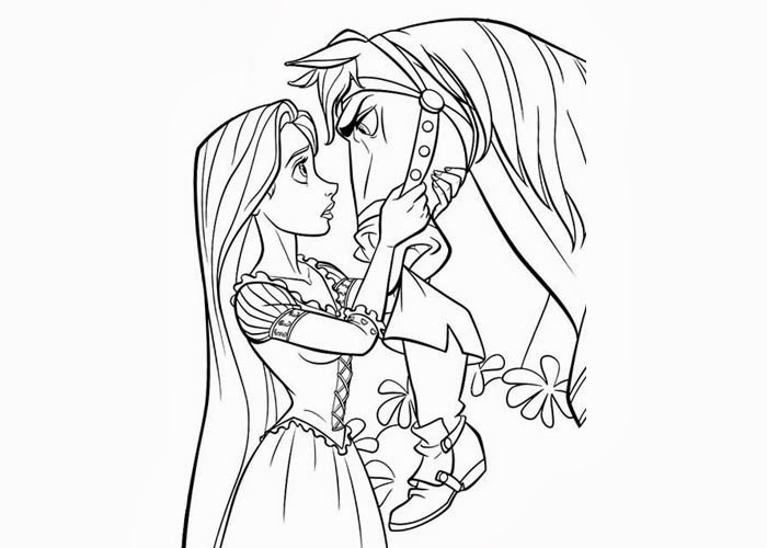 Maximus and Rapunzel coloring pages | Free Coloring Pages ...