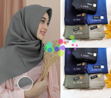 Jilbab Shinar Glamour Sonic Ultra Laser Cut Segi Empat