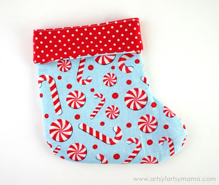 photograph about Free Printable Christmas Stocking Pattern named Mini Xmas Stocking Reward Thought artsy-fartsy mama