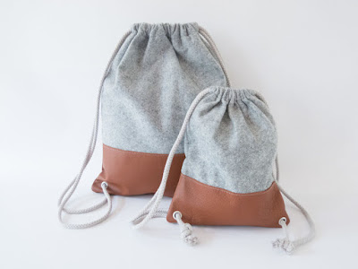 modern drawstring back pack pattern