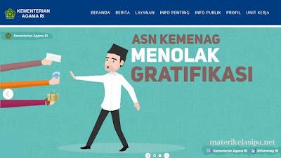 Ilustrasi Tampilan Website Kemenag - 5 Website Penting Bagi Guru IPA (PNS dan Non-PNS Update 2020)