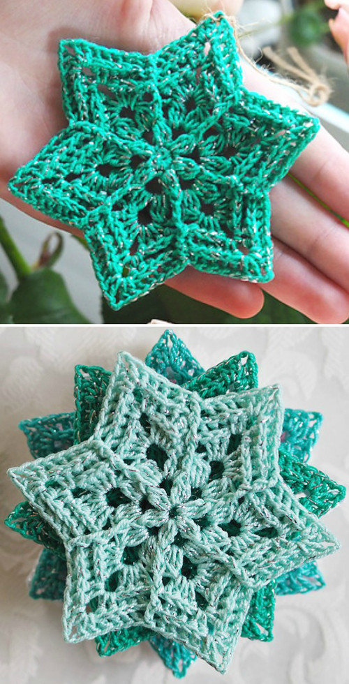 Flower Star Snowflake - Free Pattern