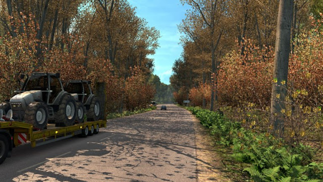 ets2 mods, euro truck simulator 2 mods, ets2 weather mod, grime's weather mods, ets2 realistic mods, ets2 realistic weather, ets2 graphic mods, recommendedmodsets2, ets 2 early autumn weather mod v5.6 screenshots1