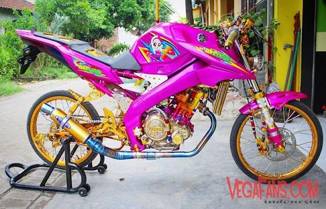 New Vixion Modif Jari Jari Thailook Warna Ungu