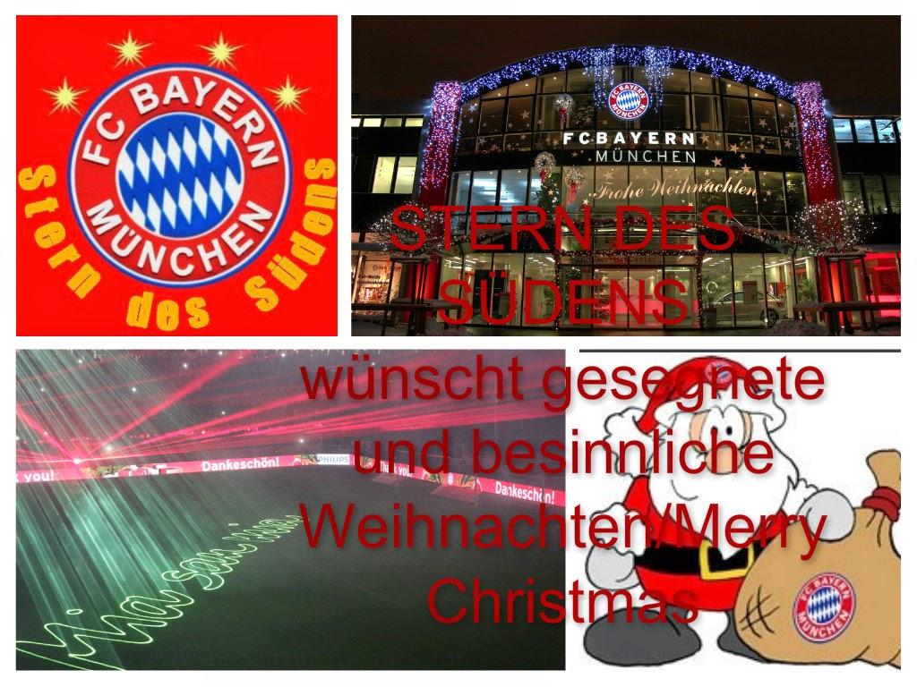 Fc Bayern Wünscht Frohe Weihnachten.Stern Des Südens Frohe Weihnachten Merry Christmas