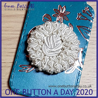 One Button a Day 2020 by Gina Barrett - Day 176 : Lotus