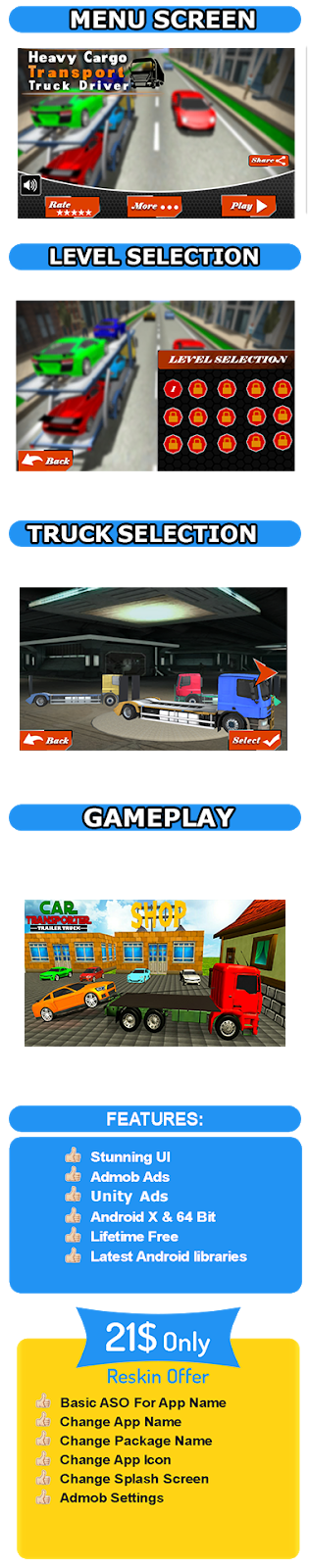 Dangerous cargo Express truck- Car transporter unity game - 1
