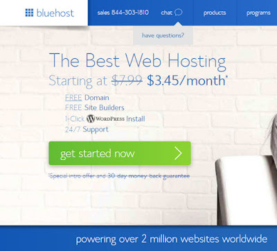 Create account on bluehost