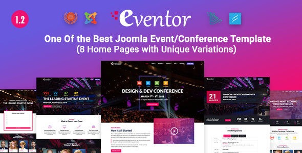 EVENTOR CONFERENCE & EVENT JOOMLA FREE TEMPLATE DOWNLOAD