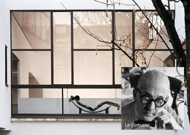 Le Corbusier y una imagen de la Maison La Roche en Francia