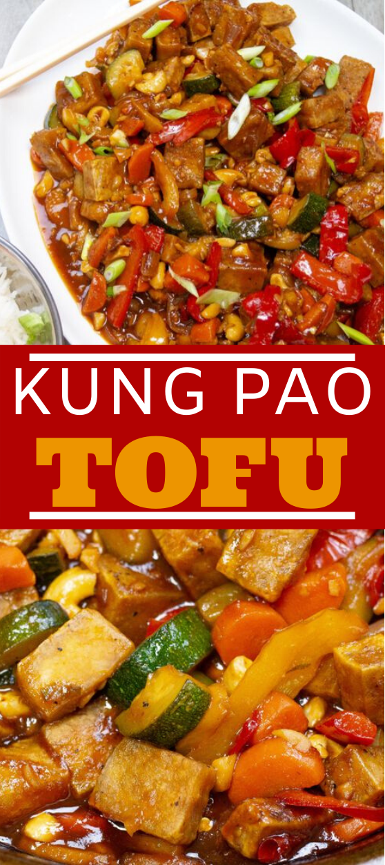 Kung Pao Tofu #vegetarian #dinner #meatless #chinese #takeout