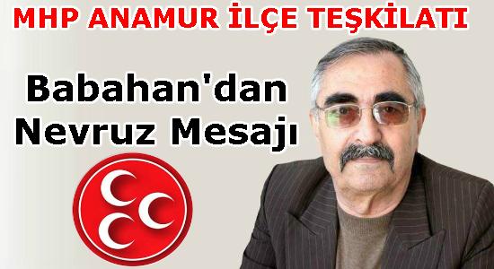 MHP, SİYASET, Anamur, Anamur Haber, Anamur Son Dakika, İsmet Babahan