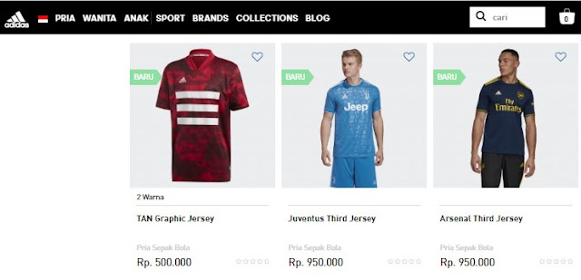 Jersey Bola Adidas Indonesia