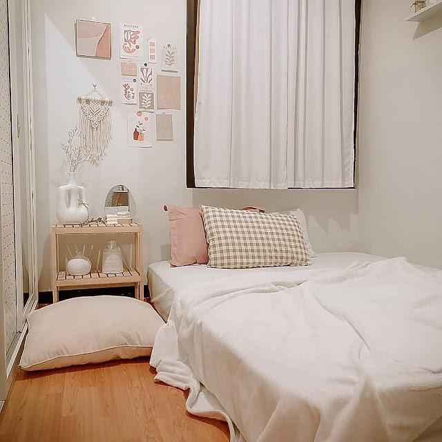 Desain Kamar Tidur dengan Kasur Lesehan yang Sederhana
