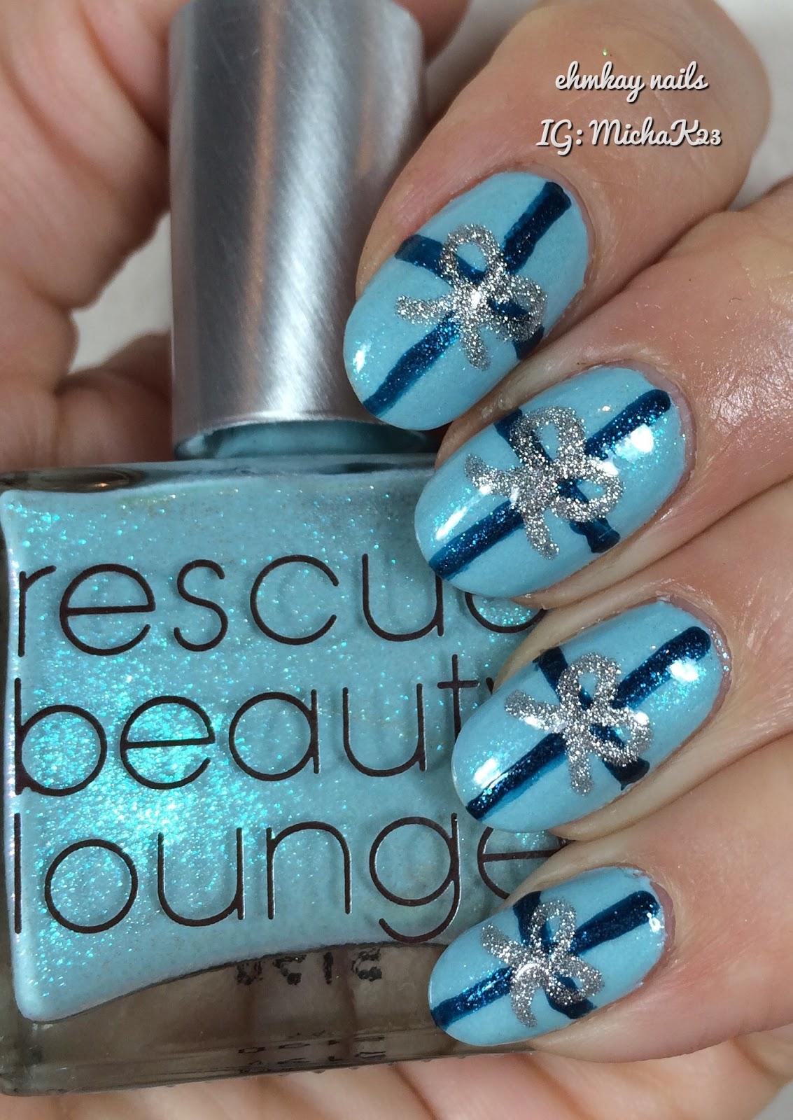 ehmkay nails: Chanukah Nail Art: Chanukah Presents!