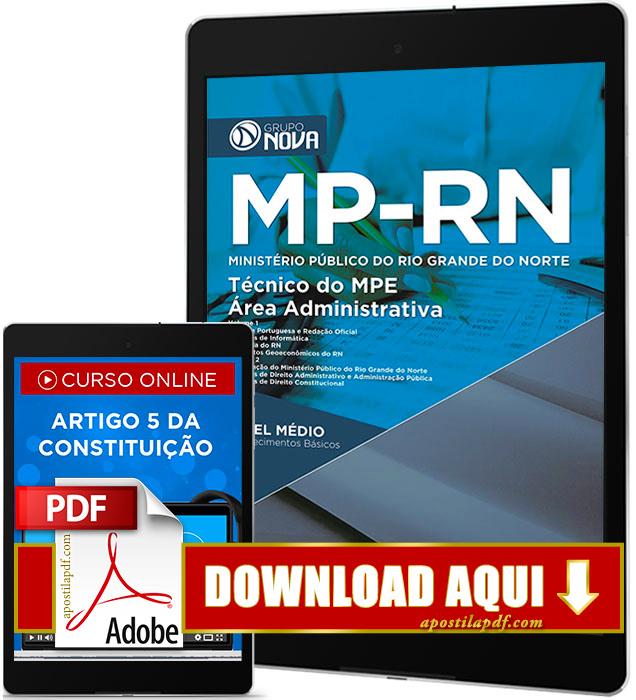 Apostila MP RN 2017 PDF Download Técnico Área Administrativa Grátis Curso Online