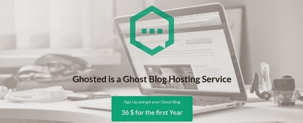 Ghosted ghost blog hosting service