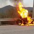 Φωτιά σε μηχανή στην έξοδο Παραμυθιάς στην Εγνατία Οδό