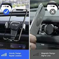 gravity type vs magnetic type mobile holder