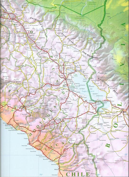 Mapa sul do Peru