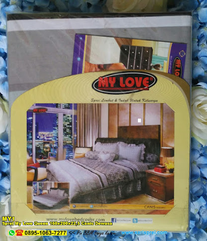 Sprei My Love Queen 160x200x22,5 Canis Dewasa