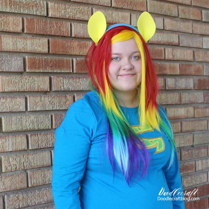 Rainbow Dash from My Little Pony Equestria Girls Cosplay or Halloween Costume.