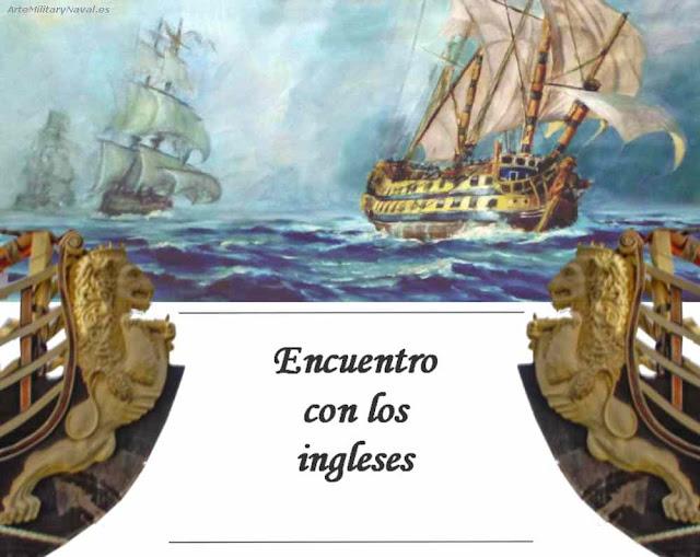 Óleo del navío el Glorioso