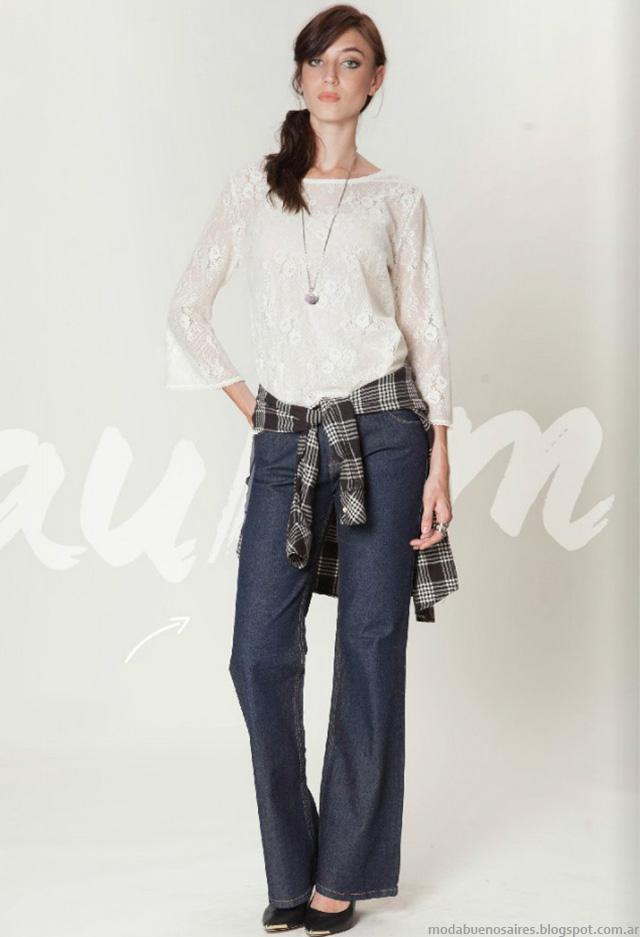 Moda otoño invierno 2016 pantalones de jeans de mujer Asterisco.
