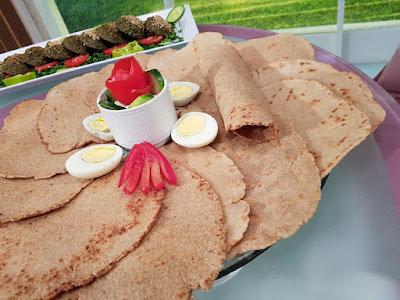طريقة عمل خبز الصاج بالشوفان