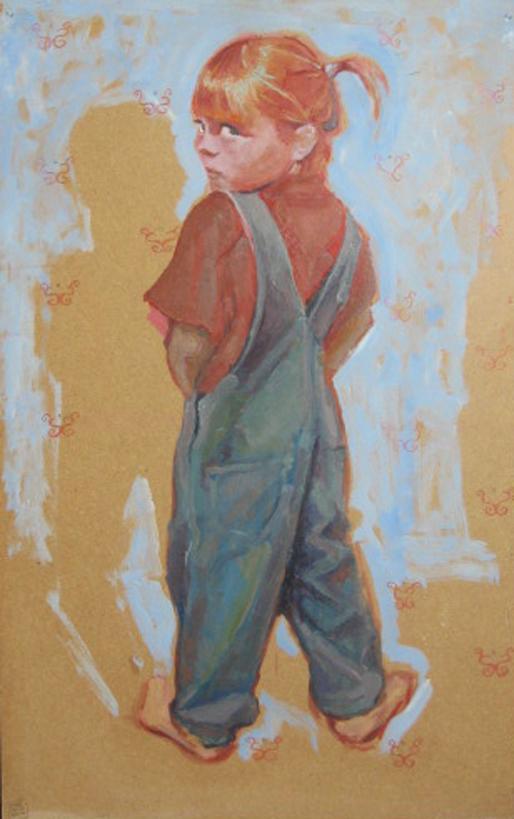 malarstwo ludzie tematyka społeczna dzieci chłopczyk dziewczynka Urbaniak